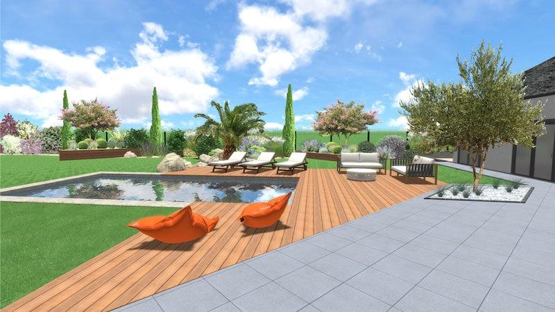 Création Jardin 3D par architecte paysagiste