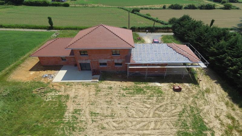 Espace extérieur future maison Orthez