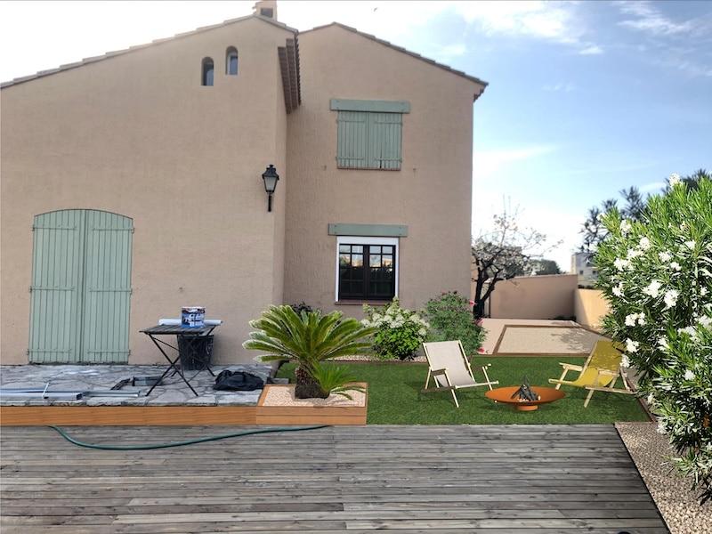Espace terrasse après photomontage