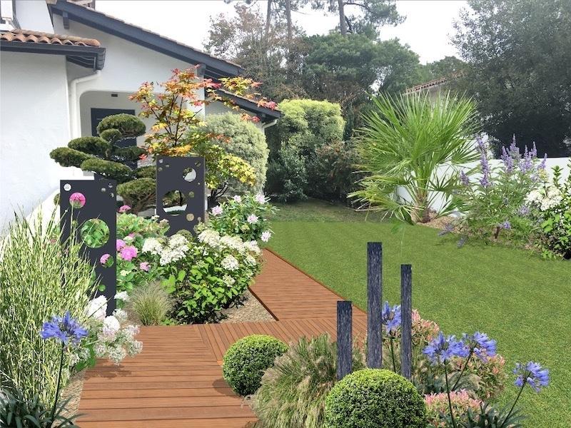 Jardin après photomontage réalisé par architecte paysagiste
