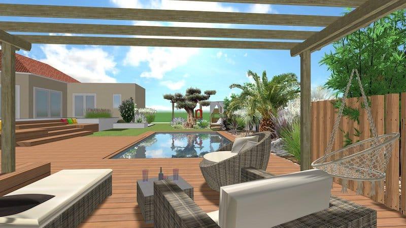 Plan 3D des Extérieurs d'une Maison