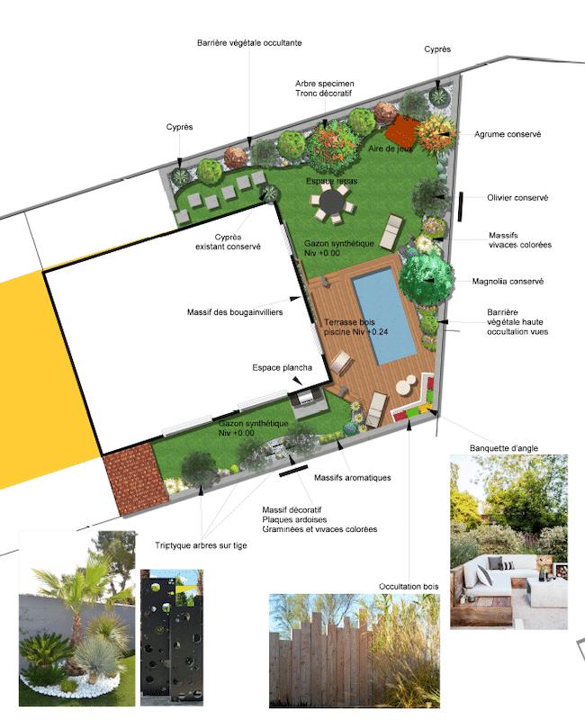 Plan de Masse 2D Aménagements extérieurs