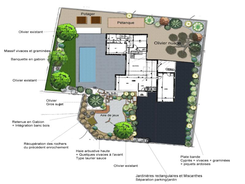 Plan de masse d'un futur jardin par Imagine mon Jardin