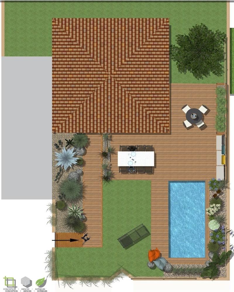Plan de masse Extérieur Villa Neuve Narbonne