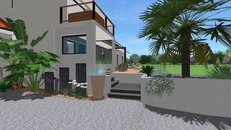 Vue Escalier Villa Neuve Orthez