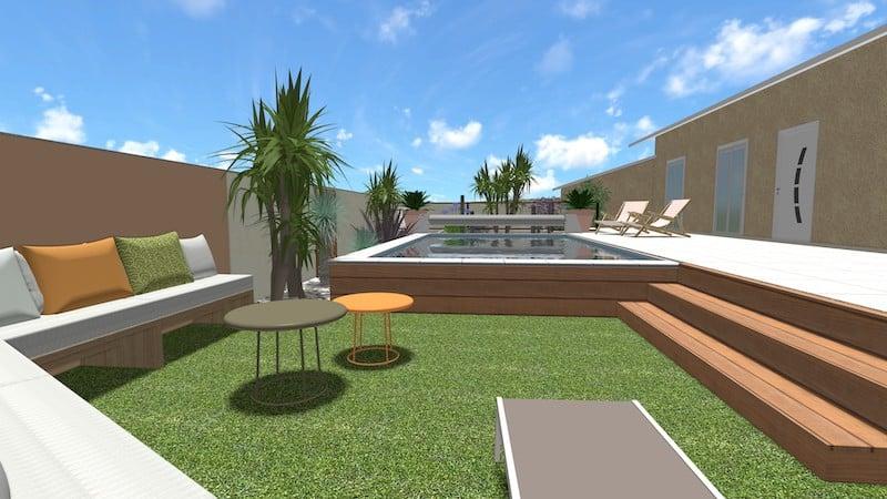 Espace jardin cosy relooking total agde