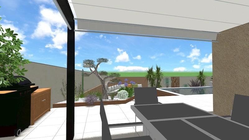 Table extérieur vue jardin relooking total agde