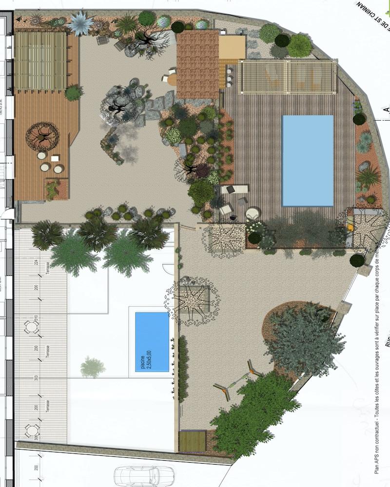 Plan de masse ancienne cave viticole de Villespassans
