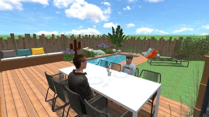 Vue 3D Aménagement Villa Neuve Narbonne