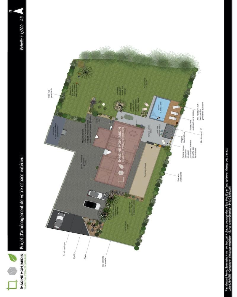 Plan de masse relooking total jardin agde