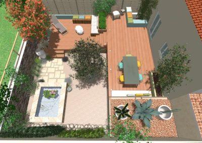 Rénovation jardin type patio à Espondeilhan