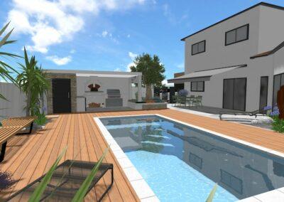 Piscine & Pool-House St André de Sangonis