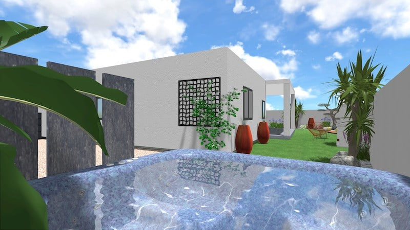 Vue 3D Aménagement Paysager Sérignan 5