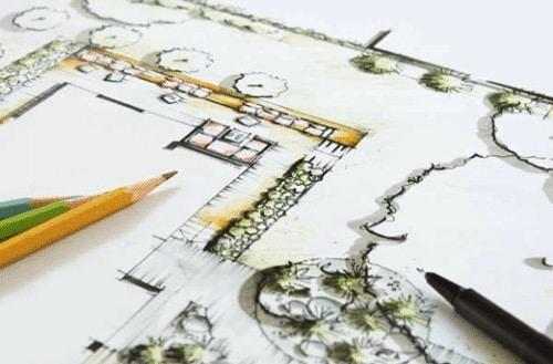 dessin d un projet de creation d exterieur par imagine mon jardin