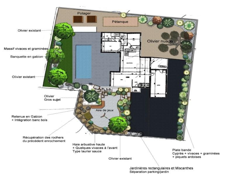 plan de masse d un futur jardin par imagine mon jardin